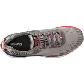 Hoka One One Clifton 5 - Zapatillas running Hombre - gris/rojo